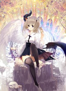 Rating: Safe Score: 9 Tags: ajahweea horns thighhighs wings User: Mr_GT