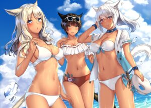 Rating: Safe Score: 46 Tags: animal_ears aruma_jiki bikini final_fantasy final_fantasy_xiv miqo'te swimsuits tagme tail User: kiyoe
