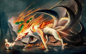 Rating: Safe Score: 37 Tags: amaterasu ookami sakimichan watermark User: charunetra