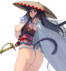 Rating: Questionable Score: 8 Tags: animal_ears ass breasts fundoshi japanese_clothes masao nipples no_bra open_shirt sword tagme tail thong User: BattlequeenYume
