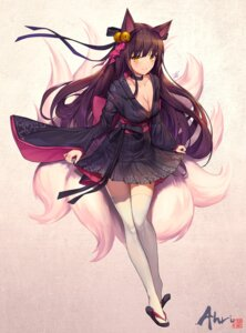 Rating: Safe Score: 102 Tags: ahri animal_ears cleavage kitsune league_of_legends lee_seok_ho lolita_fashion tail thighhighs wa_lolita User: Mr_GT