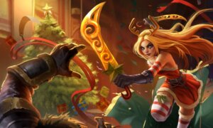 Rating: Questionable Score: 4 Tags: christmas dress horns league_of_legends sword tagme thighhighs User: Radioactive