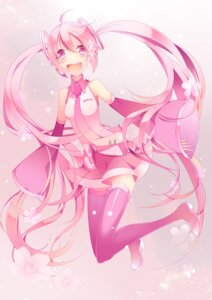 Rating: Safe Score: 21 Tags: hatsune_miku headphones sakura_miku temari_(artist) vocaloid User: charunetra