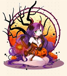 Rating: Safe Score: 27 Tags: cleavage devil dress folala garter halloween horns love_live! thighhighs toujou_nozomi User: KazukiNanako