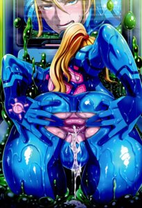 Rating: Explicit Score: 35 Tags: anus ass bodysuit butcha-u cum eroquis! metroid samus_aran torn_clothes wet wet_clothes User: demonbane1349