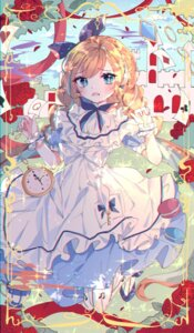 Rating: Safe Score: 15 Tags: alice alice_in_wonderland dress skirt_lift wine_(2148_wine) User: BattlequeenYume