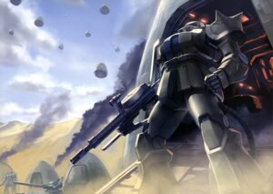 Rating: Safe Score: 6 Tags: gun gundam mecha mobile_suit_gundam ms-06_zaku_ii User: drop