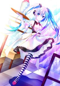 Rating: Safe Score: 51 Tags: hatsune_miku thighhighs tianya_beiming vocaloid waitress User: Alfakroll