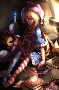Rating: Safe Score: 33 Tags: clownpiece dress feet hecatia_lapislazuli pantyhose touhou wings yilocity User: Mr_GT