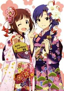 Rating: Safe Score: 45 Tags: amami_haruka kimono kisaragi_chihaya murasaki_yoshino the_idolm@ster User: Radioactive