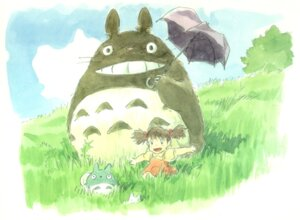 Rating: Safe Score: 7 Tags: kusakabe_mei oga_kazuo tonari_no_totoro totoro User: Radioactive