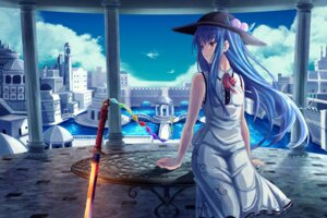 Rating: Safe Score: 40 Tags: dress hinanawi_tenshi sword torottye touhou User: Mr_GT