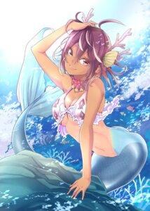Rating: Safe Score: 22 Tags: bikini_top bokutachi_wa_benkyou_ga_dekinai cleavage horns mermaid swimsuits tail takemoto_uruka tan_lines tsutsui_taishi wet User: Spidey