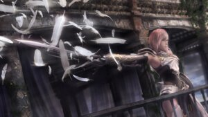 Rating: Safe Score: 41 Tags: armor cg final_fantasy final_fantasy_xiii final_fantasy_xiii-2 lightning square_enix sword thighhighs User: Izuna