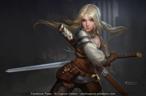 Rating: Safe Score: 36 Tags: ciri cleavage saintcygnus sword the_witcher the_witcher_3 User: NotRadioactiveHonest