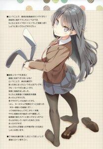 Rating: Safe Score: 12 Tags: animal_ears bunny_ears mizoguchi_keiji ntype pantyhose sakurajima_mai seifuku seishun_buta_yarou_series User: Spidey