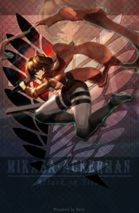Rating: Safe Score: 13 Tags: garter mikasa_ackerman shingeki_no_kyojin sword taria uniform User: charunetra