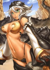 Rating: Questionable Score: 32 Tags: armor bikini_armor cameltoe genkai_tokki_monster_monpiece horns tagme weapon User: Radioactive