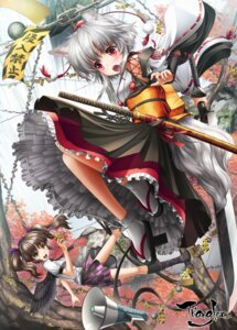 Rating: Safe Score: 30 Tags: animal_ears himekaidou_hatate inubashiri_momiji japanese_clothes kei_traum tail touhou wings User: Mr_GT