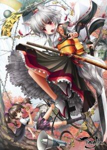 Rating: Safe Score: 31 Tags: animal_ears himekaidou_hatate inubashiri_momiji japanese_clothes kei_traum tail touhou wings User: Mr_GT