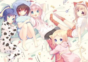 Rating: Safe Score: 53 Tags: animal_ears digital_version feet nekomimi pajama tail yuizaki_kazuya User: AltY