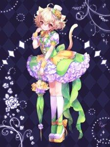 Rating: Safe Score: 26 Tags: animal_ears dress heels nekomimi shimogu tail umbrella User: charunetra