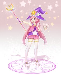Rating: Safe Score: 17 Tags: heels league_of_legends lulu_(league_of_legends) neko tagme thighhighs weapon wings witch User: Anemone