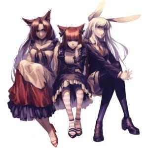 Rating: Safe Score: 43 Tags: animal_ears bunny_ears heels imaizumi_kagerou kaenbyou_rin lucky_drift nekomimi reisen_udongein_inaba touhou User: Radioactive