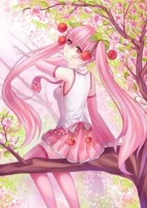 Rating: Safe Score: 15 Tags: hatsune_miku headphones sakura_miku thighhighs vocaloid yoneyu User: Mr_GT