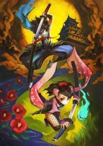 Rating: Safe Score: 18 Tags: kisuke momohime_(muramasa) oboro_muramasa shigatake sword User: Radioactive