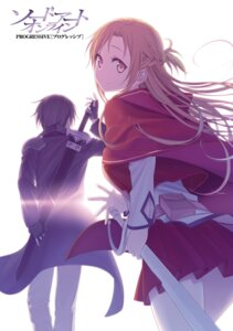 Rating: Safe Score: 24 Tags: asuna_(sword_art_online) himura_kiseki kirito sword sword_art_online sword_art_online_progressive User: kiyoe