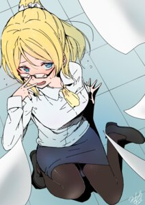 Rating: Safe Score: 22 Tags: ayase_eli business_suit heels love_live! megane pantyhose tagme User: Spidey