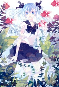 Rating: Safe Score: 12 Tags: bottle_miku hatsune_miku ky692 see_through seifuku vocaloid User: 23yAyuMe