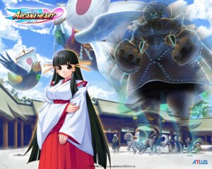 Rating: Safe Score: 6 Tags: arcana_heart kasuga_maori miko mizuki_gyokuran monster wallpaper wings User: meemeeshion