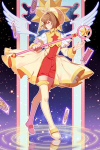 Rating: Safe Score: 16 Tags: card_captor_sakura duximeng kinomoto_sakura thighhighs weapon wings User: RyuZU