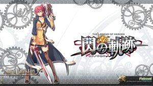 Rating: Safe Score: 26 Tags: eiyuu_densetsu eiyuu_densetsu:_sen_no_kiseki enami_katsumi falcom gun sara_valestein sword thighhighs wallpaper User: beitiao
