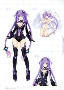 Rating: Safe Score: 40 Tags: bodysuit choujigen_game_neptune cleavage four_goddesses_online:_cyber_dimension_neptune kami_jigen_game_neptune_v lingerie purple_heart thighhighs tsunako wings User: wolfmental