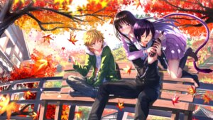 Rating: Safe Score: 44 Tags: iki_hiyori noragami seifuku swordsouls tail yato yukine User: SubaruSumeragi