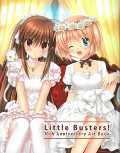 Rating: Safe Score: 42 Tags: dress hinoue_itaru kamikita_komari little_busters! na-ga natsume_rin neko thighhighs User: MitsunaGears