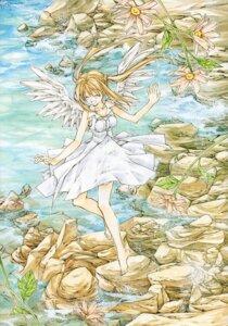 Rating: Safe Score: 6 Tags: dress otomiya_haine shinshi_doumei_cross tanemura_arina wings User: syaoran-kun