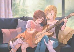 Rating: Safe Score: 20 Tags: dress guitar maekawa_miku megane neko ruien tada_riina the_idolm@ster the_idolm@ster_cinderella_girls User: Dreista