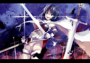 Rating: Questionable Score: 15 Tags: blueman miki_sayaka pantsu puella_magi_madoka_magica shimapan sword thighhighs User: Radioactive