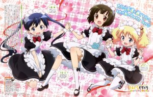 Rating: Safe Score: 45 Tags: alice_cartelet kin'iro_mosaic komichi_aya maid oomiya_shinobu ozeki_miyabi thighhighs User: drop