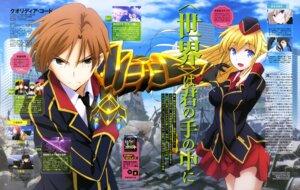 Rating: Safe Score: 17 Tags: armor gun ishida_kazumasa qualidea_code suzaku_ichiya uniform utara_canaria User: drop