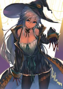 Rating: Safe Score: 56 Tags: akanagi_youto cleavage dress halloween pantyhose witch User: Mr_GT