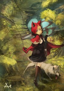 Rating: Safe Score: 39 Tags: akakitsu animal_ears ass dress heels little_red_riding_hood_(character) red_riding_hood User: Mr_GT