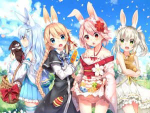Rating: Safe Score: 53 Tags: animal_ears bunny_ears crossover duji_amo japanese_clothes kuuki_shoujo magi_in_wanchin_basilica rice_simon sergestid_shrimp skirt_lift the_personification_of_atmosphere thighhighs xiao_ma xuan_ying User: fairyren