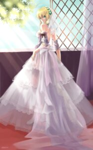 Rating: Safe Score: 51 Tags: bzerox dress fate/stay_night heels no_bra saber see_through wedding_dress User: Velociraptor