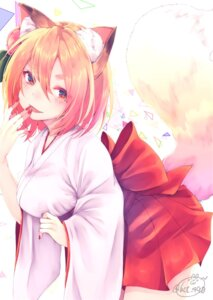 Rating: Safe Score: 36 Tags: animal_ears chita_(ketchup) kitsune miko tail User: Mr_GT