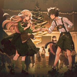 Rating: Questionable Score: 13 Tags: animal_ears christmas daikazoku63 horns skirt_lift tagme tail User: Dreista